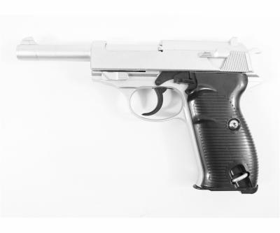 Страйкбольный пистолет Galaxy G.21S (Walther P38) серебристый