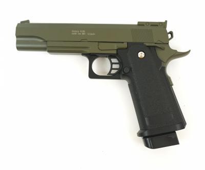Страйкбольный пистолет Galaxy G.6G (Colt Hi-Capa) зеленый