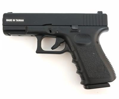 Страйкбольный пистолет KJW Glock G23 Gas, пластик
