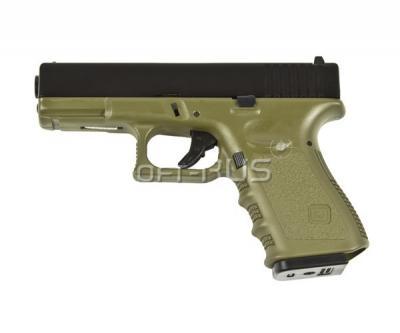 Страйкбольный пистолет KJW Glock G32C Gas, металл. затвор, олива (KP-03-MS-OD)