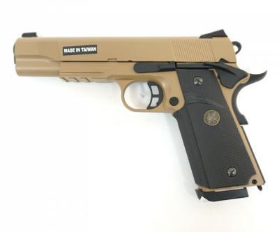 Страйкбольный пистолет KJW Colt M1911 M.E.U. Gas Tan (KP-07.GAS-TAN)