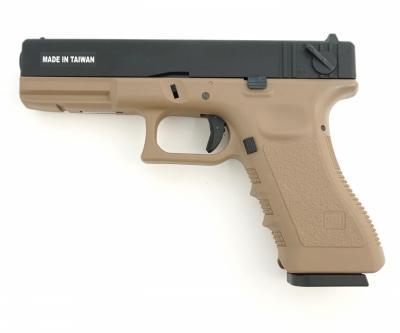 Страйкбольный пистолет KJW Glock G18 CO2 GBB Tan (KP-18.CO2-TAN)