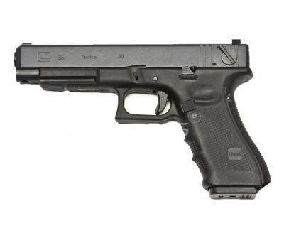 Страйкбольный пистолет WE Glock-35 Gen.4, сменные накладки (WE-G009B-BK)