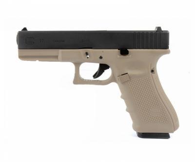 Страйкбольный пистолет WE Glock-35 Gen.4 Tan, сменные накладки (WE-G009B-TAN)