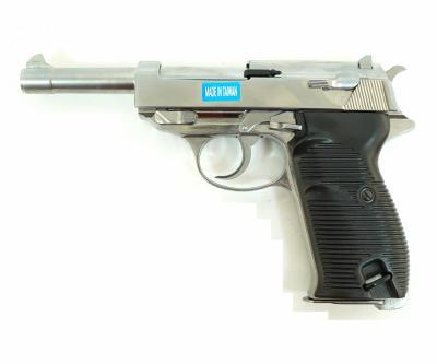 Страйкбольный пистолет WE Walther P38 GBB Silver (WE-P010LBOX-SV)