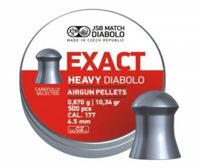 Пули JSB Exact Heavy Diabolo 4,5 мм, 0,67 грамм, 500 штук