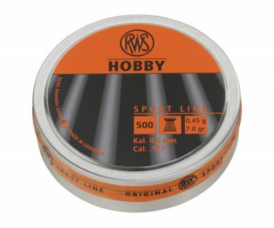 Пули RWS Hobby 4,5 мм, 0,45 грамм, 500 штук