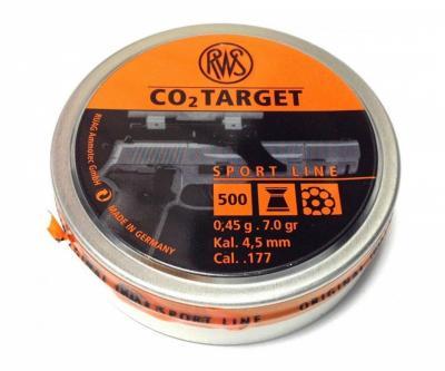 Пули RWS CO2 Target 4,5 мм, 0,45 грамм, 500 штук