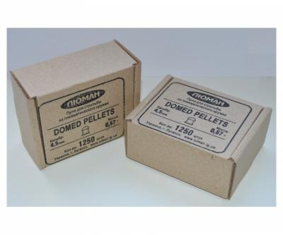 Пули Люман Domed Pellets 4,5 мм, 0,57 грамм, 1250 штук