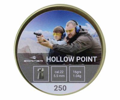 Пули Borner Hollow Point 4,5 мм, 0,58 грамм, 250 штук