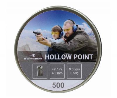 Пули Borner Hollow Point 4,5 мм, 0,58 грамм, 500 штук
