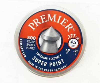 Пули Crosman Premier Super Point 4,5 мм, 0,51 грамм, 500 штук