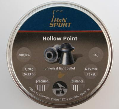 Пули H&N Hollow Point 6,35 мм, 1,70 грамм, 200 штук