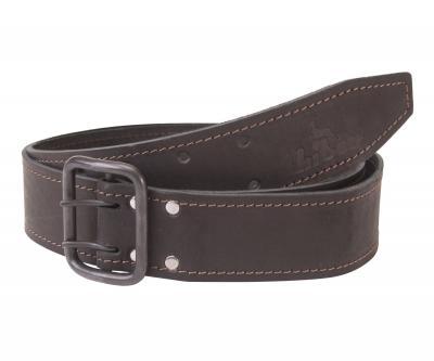 Кожаный ремень Hiter 45 мм, черный, хром матированный