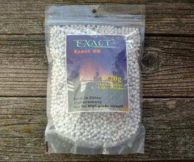 Шары для страйкбола Exact 0,20 г, 5000 штук (1 кг, белые)