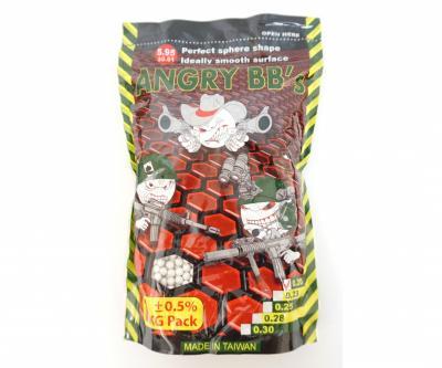 Шары для страйкбола Angry BBs 0,20 г, 5000 штук (1 кг, белые)