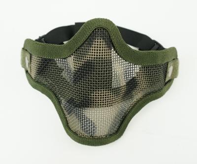 Маска-сетка с 2-мя ремешками на ниж. часть лица Jungle Camouflage