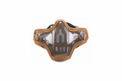 Маска-сетка с 2-мя ремешками на ниж. часть лица Tan Skull