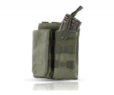 Подсумок Wartech MP-116 под 2 магазина АК/М серии, клапан/резинка (олива)