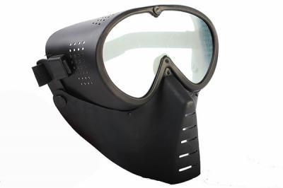 Маска защитная полнолицевая, с прозрачными линзами Black