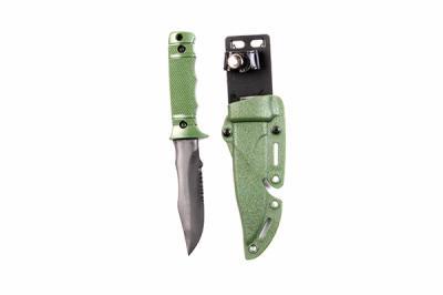 Нож тренировочный M37 (пластик/резина) с ножнами Green