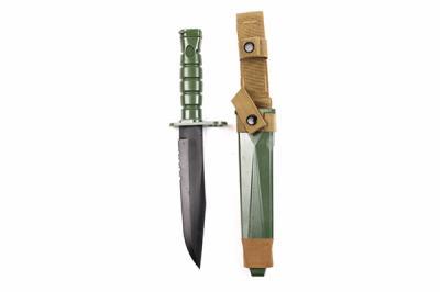 Нож тренировочный M10 для M16 (пластик/резина) с ножнами Green