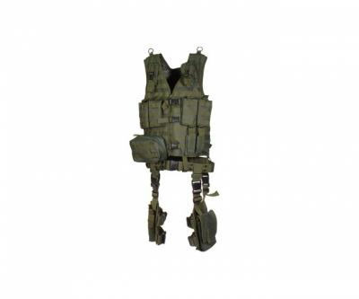 Разгрузочный жилет UTG Leapers тактический, 10 предметов, зеленый (PVC-V747KTG)