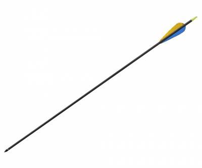 Стрела лучная карбоновая (натуральное оперение) 30