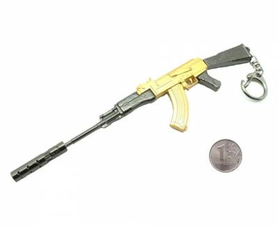 Брелок Microgun M автомат АК-47 (Gold Edition)