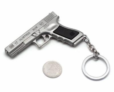 Брелок Microgun M пистолет Glock 17 (Silver edition)