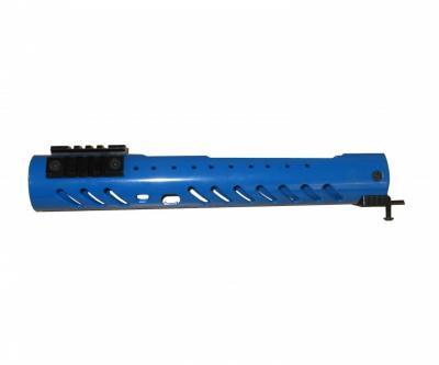 Тактическое цевье Малка круглое для установки на оружие тип Вепрь 12, 3 планки (4 шага), синее