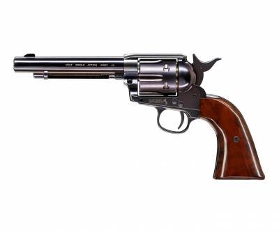 Пневматический револьвер Umarex Colt Single Action Army (SAA) .45 BB Blue (5,5