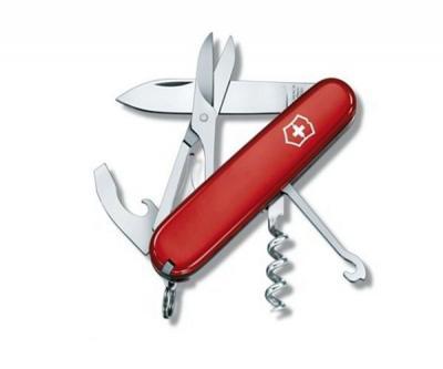 Нож складной Victorinox Compact 1.3405 (91 мм, красный)