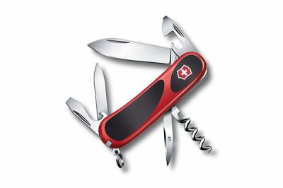 Нож складной Victorinox EvoGrip 10 2.3803.C (85 мм, красный с черным)