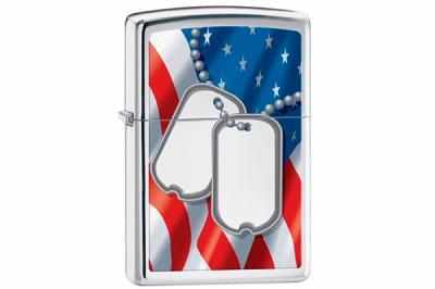 Зажигалка Zippo 28291 Flag & Dog Tags