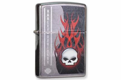 Зажигалка Zippo 28618 Harley Davidson Flaming Skull