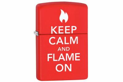 Зажигалка Zippo 28671 Keep Calm & Flame On