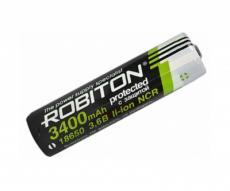 Аккумулятор Robiton 18650 3400 mAh, с защитой (NCR18650B) PK1