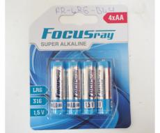 Батарейки пальчиковые FocusRay Super Alkaline LR6/BL4 1.5V (4 x AA)