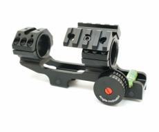 Кронштейн 25/30 мм монолит на Weaver, с угломером и индикатором уровня (BH-MS18)