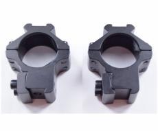Кольца 25,4 мм на «ласточкин хвост», низкие, с Weaver наверху (P24-0118)