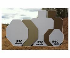 Мишень IPSC метрическая (с белой стороной) 760x460 мм, гофрокартон Т23, 10 штук