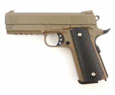 Страйкбольный пистолет Galaxy G.25D (Colt 1911 Rail) песочный