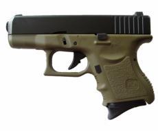 Страйкбольный пистолет KJW Glock G27 Gas, металл. затвор (олива OD)