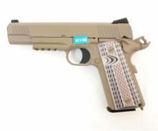 Страйкбольный пистолет WE Colt M45A1 Tan (WE-E015-TAN)