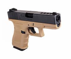Страйкбольный пистолет WE Glock-23 Gen.3 Tan (WE-G004A-TAN)