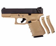 Страйкбольный пистолет WE Glock-23 Gen.4 Tan, сменные накладки (WE-G004B-TAN)