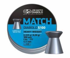Пули JSB Blue Match Diabolo S 100 4,5 мм, 0,535 грамм, 500 штук