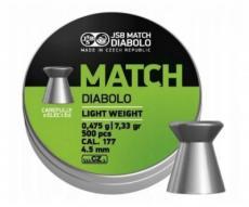 Пули JSB Green Match Diabolo Light 4,5 мм, 0,50 грамм, 500 штук