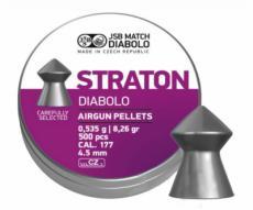 Пули JSB Straton Diabolo 4,5 мм, 0,535 грамм, 500 штук